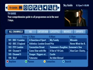 Sky+ HD – TV Guide | Astra 2 Mobile