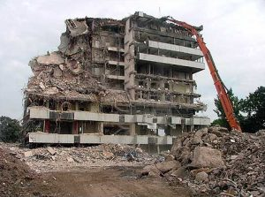 Pebble Mill being demolished