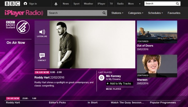 Radio on BBC iPlayer