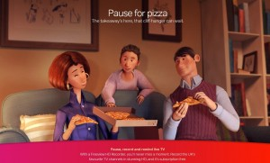 Freeview Pause for pizza
