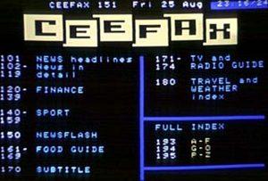 Ceefax Index