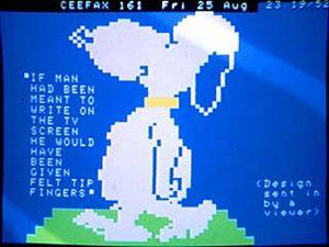 Ceefax Snoopy