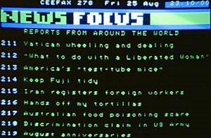 Ceefax News Focus