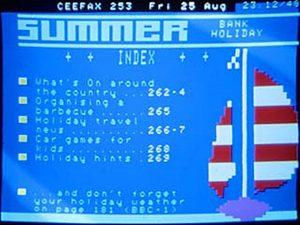 Ceefax Summer