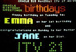 Oracle Birthday