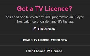 BBC iPlayer Licence
