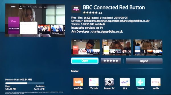 BBC Connected Red Button App