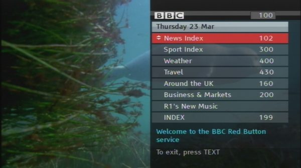 BBC Red Button News Index