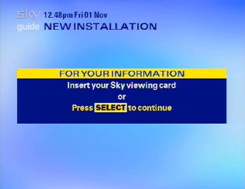 Sky Guide Sd Services Menu