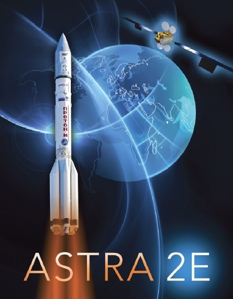Astra 2E Launch Poster