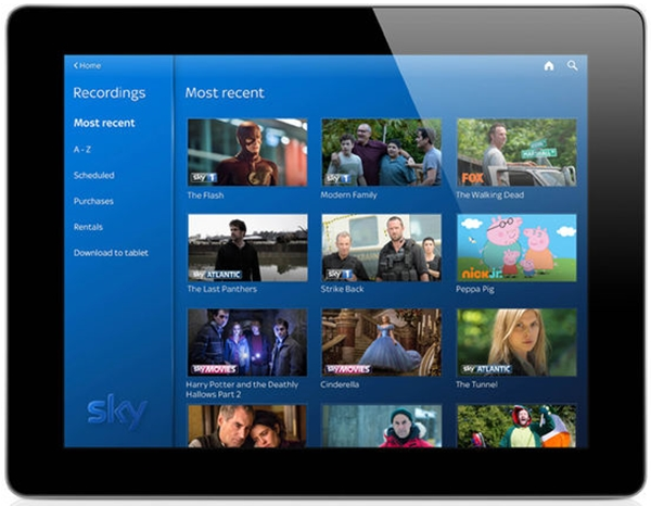 Sky Q on Tablet